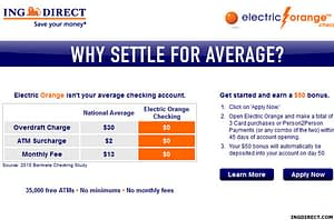 Electric Orange Checking Account