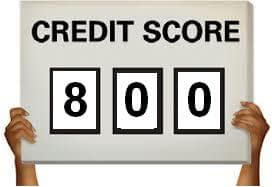 how to get a credit score 800 or above